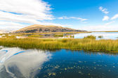 Lake Titicaca,South America, located on border of Peru and Bolivia — Stock Photo