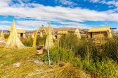 Floating Islands on Lake Titicaca Puno, Peru, South America. — Stock Photo