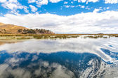 Lake Titicaca,South America, located on border of Peru and Bolivia — Stock Photo