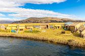 Floating Islands on Lake Titicaca Puno, Peru, South America. — Stock Photo
