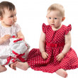 Two adorable babies girls — Stock Photo