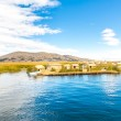 Постер, плакат: Floating Islands on Lake Titicaca Puno