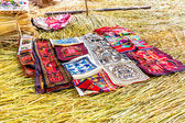 Souvenir on Floating islands Titicaca lake — Fotografia Stock