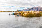 Floating Islands on Lake Titicaca Puno — Stock Photo