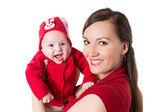 Happy mom and baby girl — Stock Photo