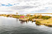 Reed boat lake Titicaca,Peru — Stock Photo