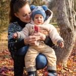 Happy mom and child boy — Stock Photo
