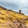 Funerary towers in Sillustani, Peru — Stock Photo #36400343