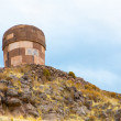 Funerary towers in Sillustani, Peru — Stock Photo #36400487