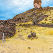 Funerary towers in Sillustani, Peru — Stock Photo #36400609