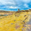 Funerary towers in Sillustani, Peru — Stock Photo #36401051