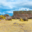 Funerary towers in Sillustani, Peru — Stock Photo #36401413