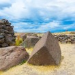 Funerary towers in Sillustani, Peru — Stock Photo #36401551