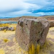 Funerary towers in Sillustani, Peru — Stock Photo #36401607