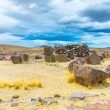 Funerary towers in Sillustani, Peru — Stock Photo #36401649