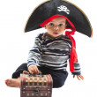 Child boy in costume pirate — Stock Photo