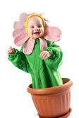 Boy dressed in flower costume — Zdjęcie stockowe