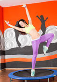 Woman dancer on studio — Stock Photo