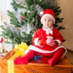 Santa baby girl — Stock Photo #39775499