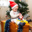 Stock Photo: Santa baby boy