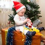 Santa baby boy — Stock Photo