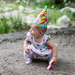 Stock Photo: Birthday girl child