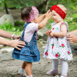 Adorable child girls — Stock Photo