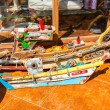 Souvenir on Floating islands Titicaca lake — Stock Photo