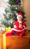 Santa baby girl — Stock Photo