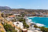 City Rethymno on beach — Стоковое фото