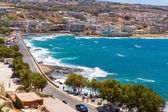 City Rethymno on beach — Stockfoto