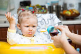 Child girl with bottle — Stock Photo
