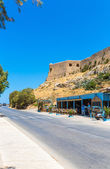City Rethymno on beach — Stock Photo