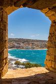 City Rethymno on beach — Stock Photo