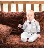 Portrait of adorable baby boy — Stock Photo