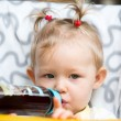 Stock Photo: Girl with bottle