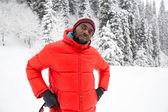 American Cheerful black man — Stock Photo