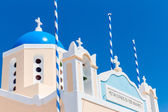Famous church on Santorini Island — Stock Photo