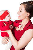 Happy mom and child — Stock Photo