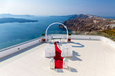 Romantic place for wedding ceremony — Stock Photo
