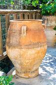 Monastery and jvase jug pitcher — Stock Photo