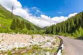 Road on Big Almaty Lake — Stock Photo