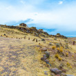 Stock Photo: Funerary towers in Sillustani