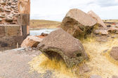 Funerary towers in Sillustani — Stock Photo