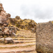 Stock Photo: Funerary towers in Sillustani, Peru, South America