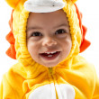 Stock Photo: Black child boy, dressed in lion carnival suit