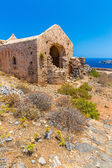Gramvousa island in Crete, Greece with remains of Venetian fort — Stock Photo