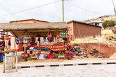 Souvenir market near towers in Sillustani, Peru, South America — Stock Photo