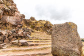 Funerary towers in Sillustani, Peru, South America — Stock Photo