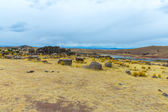Funerary towers in Sillustani in Peru — Stock Photo